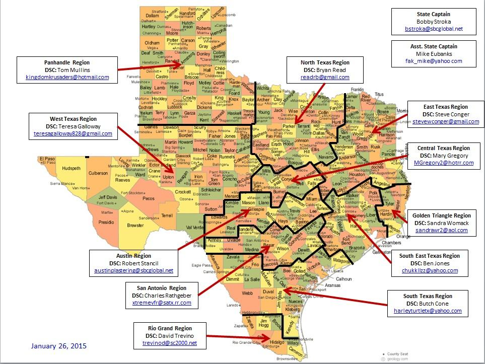 the patriot guard of south texas conducts it s missions in the coastal bend area the click on the map to see the different areas that pgr serves